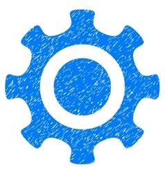 Cogwheel grainy texture icon vector