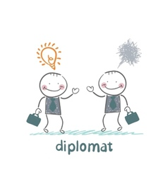 Diplomats are a good idea and bad thoughts vector
