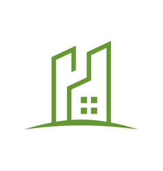 eco friendly residence logo outline vector image