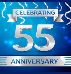 fifty five years anniversary celebration design vector image vector image