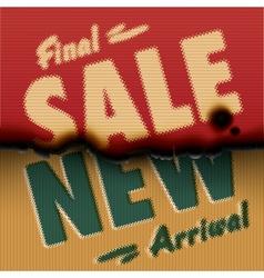 Final Sale New Arrival - vintage burned paper vector image