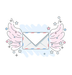 Flat icon message vector