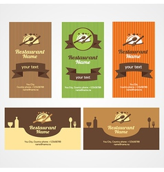 Food restaurant business card set vector