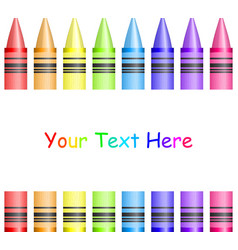 frame with colorful crayons vector image