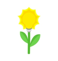 Plant with lamp bulb icon isometric 3d style vector image vector image