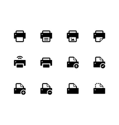 Printer icons on white background vector