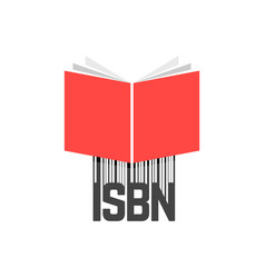 Red book with isbn bar code vector