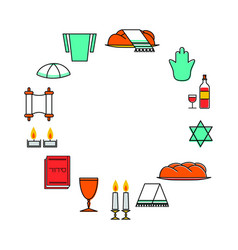shabbat shalom greeting card vector image vector image