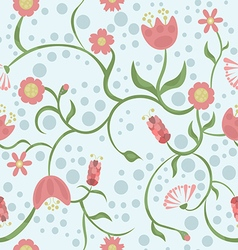 Spring is coming on blue background vector