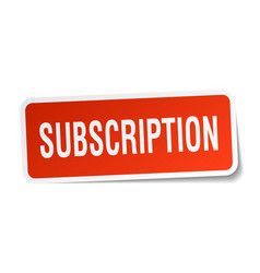 subscription square sticker on white vector image vector image