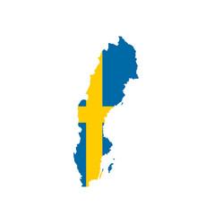 sweden flag and map vector image vector image