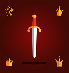 Sword flat icon vector