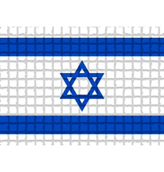 The mosaic flag of Israel vector image vector image