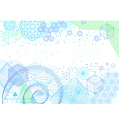 The science and mathematics abstract background vector image vector image
