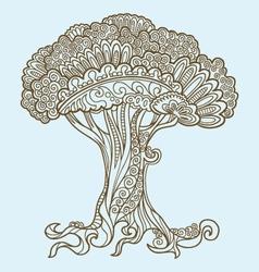 Tree doodles vector