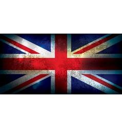 Union Jack United Kingdom Flag Grunge vector image vector image