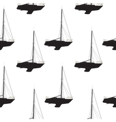 Water Boat Sailboat Seamless Pattern Background vector image