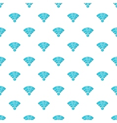 Wi-fi pattern cartoon style vector