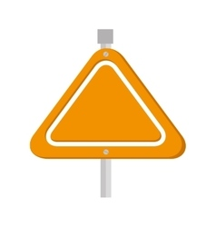 Yellow sign caution triangle icon vector
