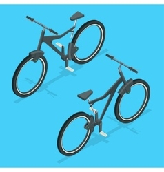 Isometric modern sport bicycle isolated on white vector