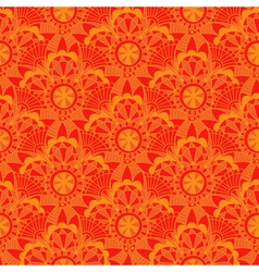 Vintage orange seamless pattern with vector image
