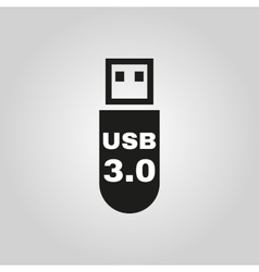 The usb icon transfer and connection data symbol vector