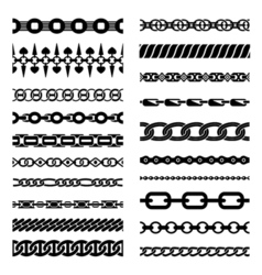 Horizontal chains collection vector