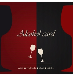 Template of an alcohol menu vector