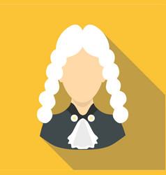 Judge icon flat style vector