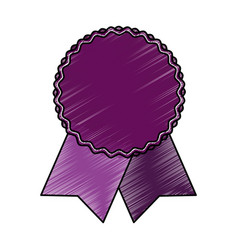 Award ribbon isolated vector