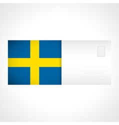 Envelope with swedish flag card vector