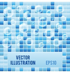 Blue mosaic small tiles texture background of spa vector