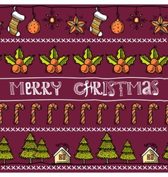 Sketch christmas card vector image