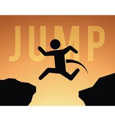 Jump design vector