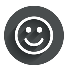Smile icon Happy face symbol vector image