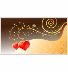 Magic love card vector
