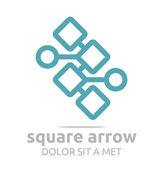 Logo design square arrow icon symbol abstract vector