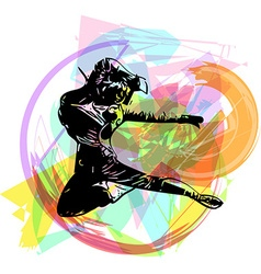 Young woman hip hop dancer vector