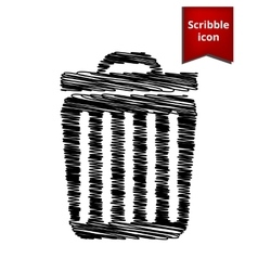 Trash icon scribble icon for you design vector