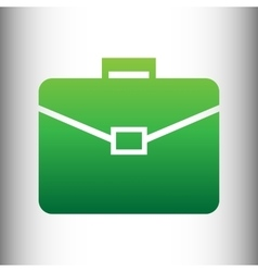 Briefcase sign green gradient icon vector