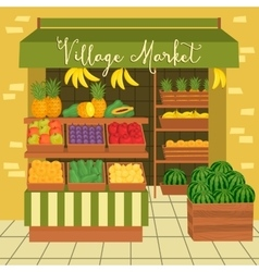 Farmers market street food vector