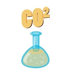 Carbon dioxide in test flask co2 icon vector