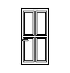 Closed wooden door icon outline style vector