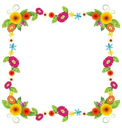 A flowery border design vector image