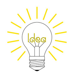 A glowing incandescent light vector