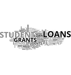 A guide to student loans and grants text word vector