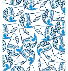 Awesome whales vector image vector image