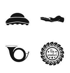 Brush palm and other web icon in black style vector