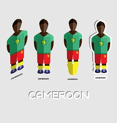 Cameroon soccer team sportswear template vector
