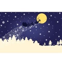 Christmas templatesilhouette santa claus coming vector